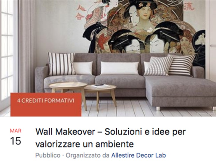 WORKSHOP DECORAZIONE MURARIA c/o ALLESTIRE DECOR LAB (VIA TORTONA 31, MILANO)