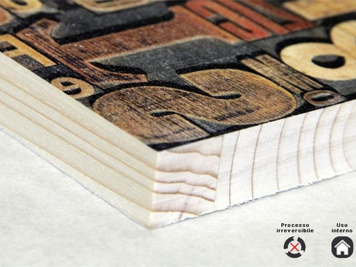 Product | Stampa diretta su legno con tecnologia Uv