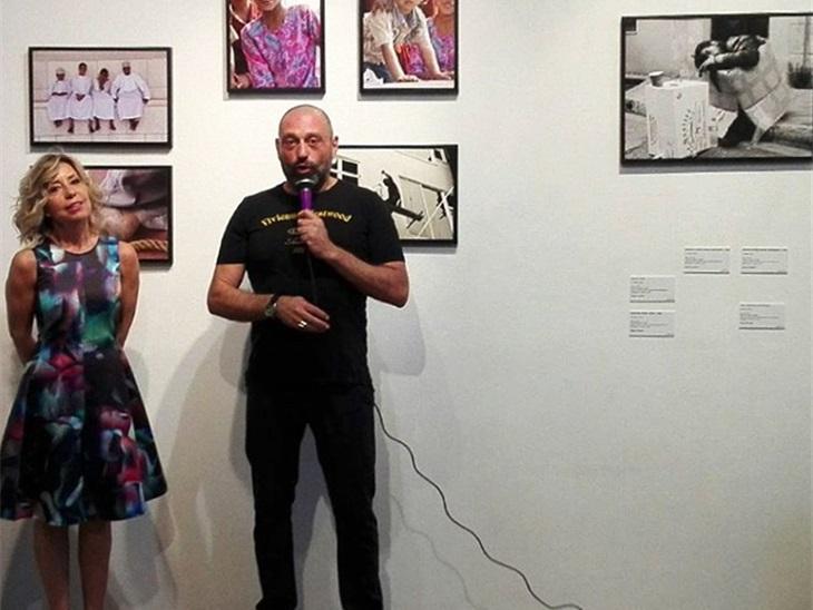 Sonia Piombin ed il gallerista