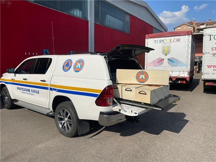 Orgogliosi di collaborare con la Protezione Civile di Buccinasco