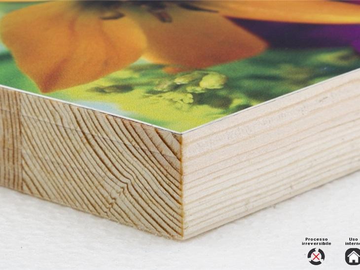 Prodotto | Accoppiamento carta fotografica/cotone su legno 14 mm